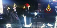 Ancona, incendio cucina in alloggio di Montemarciano