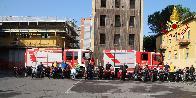 Lucca, il moto raduno da inizio alle manifestazioni per gli 80 anni dalla Fondazione del Corpo Nazionale dei Vigili del Fuoco