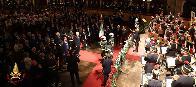Il Presidente Mattarella conferisce la Medaglia d'Oro al Merito Civile alla Bandiera dei Vigili del fuoco in occasione dell'80° anniversario della fondazione