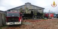 Padova, azienda agricola in fiamme