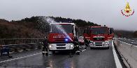 L'Aquila, tragedia sfiorata sull'autostrada A24