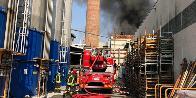 Varese, incendio in una azienda a Gallarate