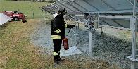 Avellino, incendio pannelli fotovoltaici a Sant'Andrea Di Conza