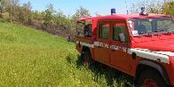 Forlì Cesena, incendio bosco