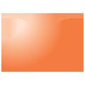 Disegno di un'ogiva di colore arancione