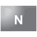 Disegno di un'ogiva di colore grigio con una lettera N vernicitata sopra