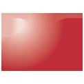 Disegno di un'ogiva di colore rosso