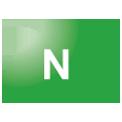 Disegno di un'ogiva di colore verde brillante con una lettera N vernicitata sopra