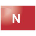 Disegno di un'ogiva di colore rosso con una lettera N vernicitata sopra
