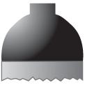 Disegno di un'ogiva di colore nero ed il corpo grigio scuro