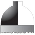 Disegno di un'ogiva di colore bianco e nero
