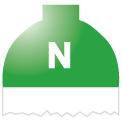 Disegno di un'ogiva di colore verde brillante ed il corpo bianco con una lettera N vernicitata sopra