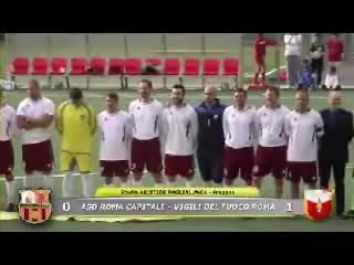 26/04/2013: Sintesi della finale dell¿ AICS Roma Cup 2013 tra Roma Capitale e la Rappresentativa Nazionale Vigili del Fuoco (VV.F.) di Calcio - Selezione Romana
