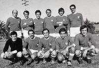 Giorgio Mazzini con la Rappresentativa di calcio VVF